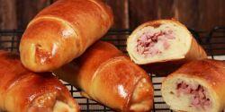 Aprenda a fazer Pão Caseiro com Recheio de Presunto e Queijo